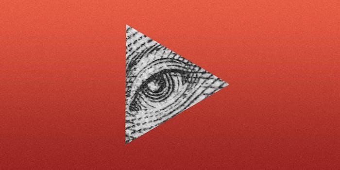 Eye of Providence in YouTube logo