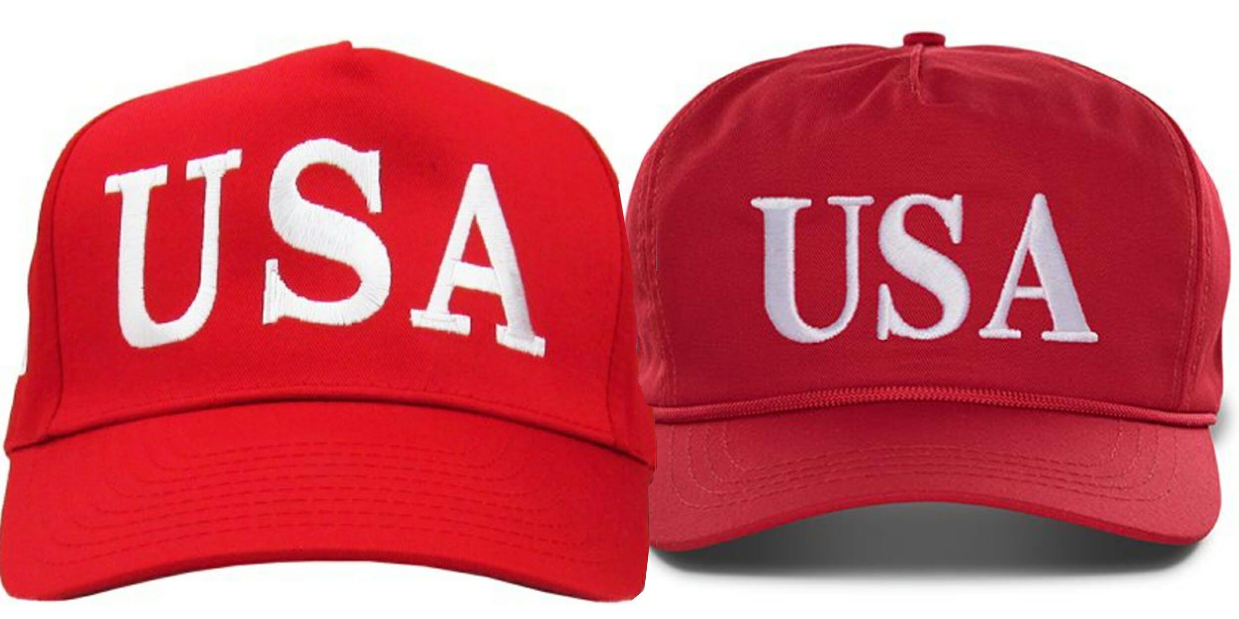 Walmart is selling knockoff Trump 'USA' hats.