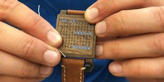 Homemade wooden letter watch