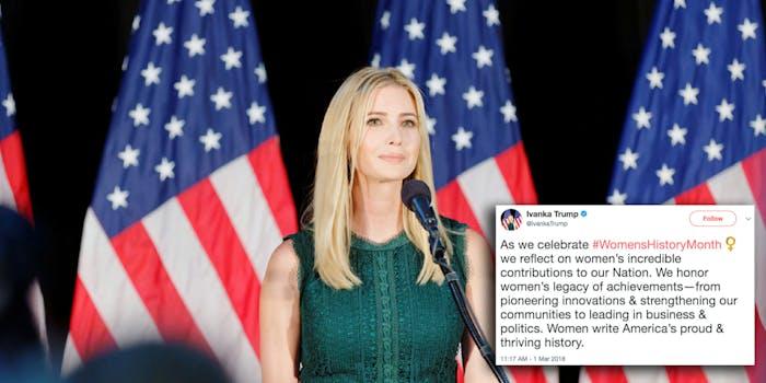 Ivanka Trump women's history month