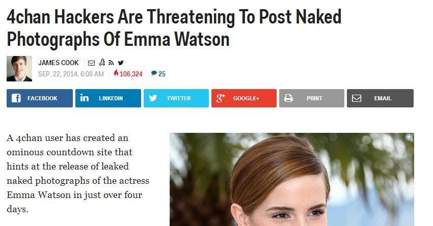 Business Insider 4chan Emma Watson