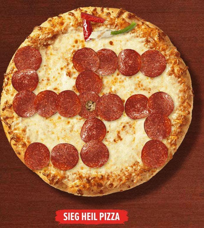 Swastika 4chan pizza