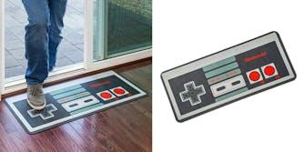 nes controller floor mat