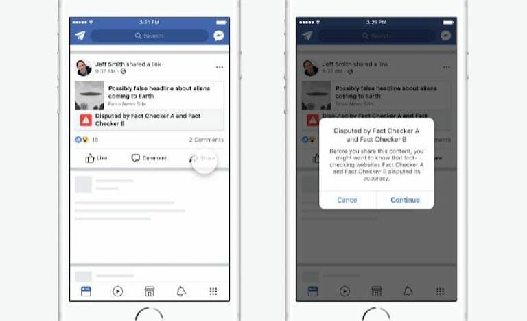 facebook disputed flag fake news