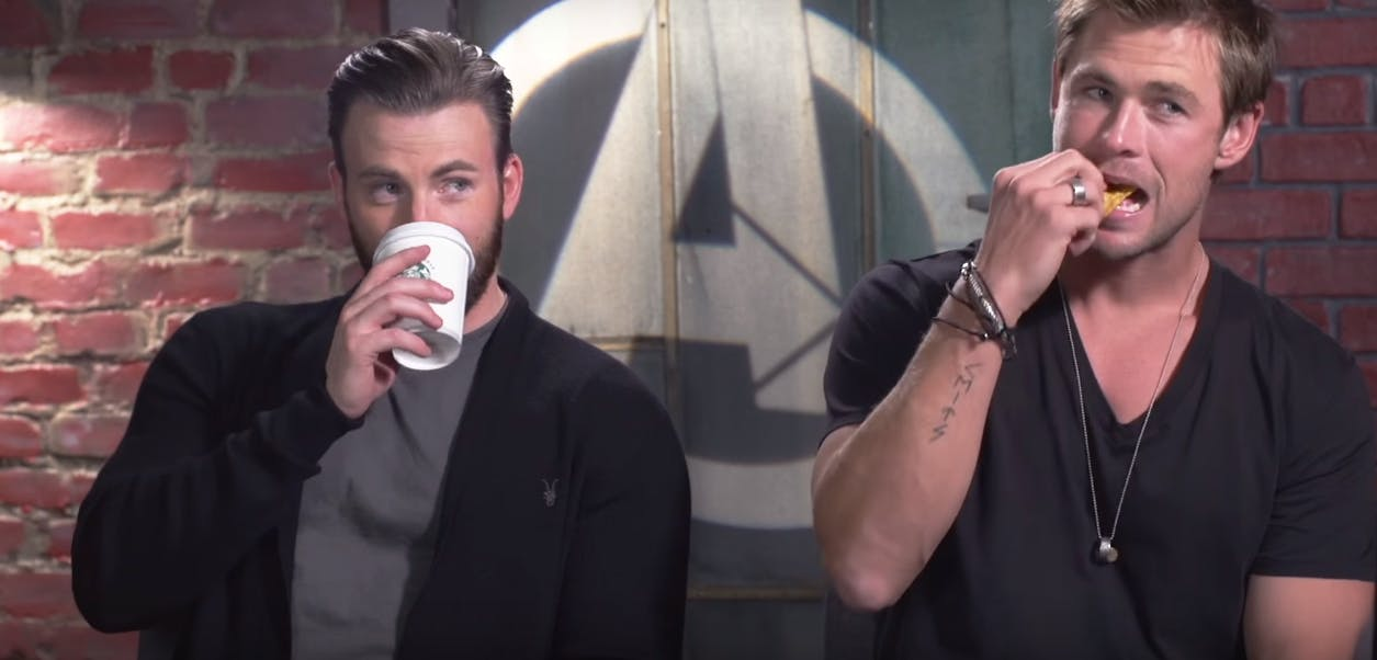 Chris Evans, Chris Hemsworth