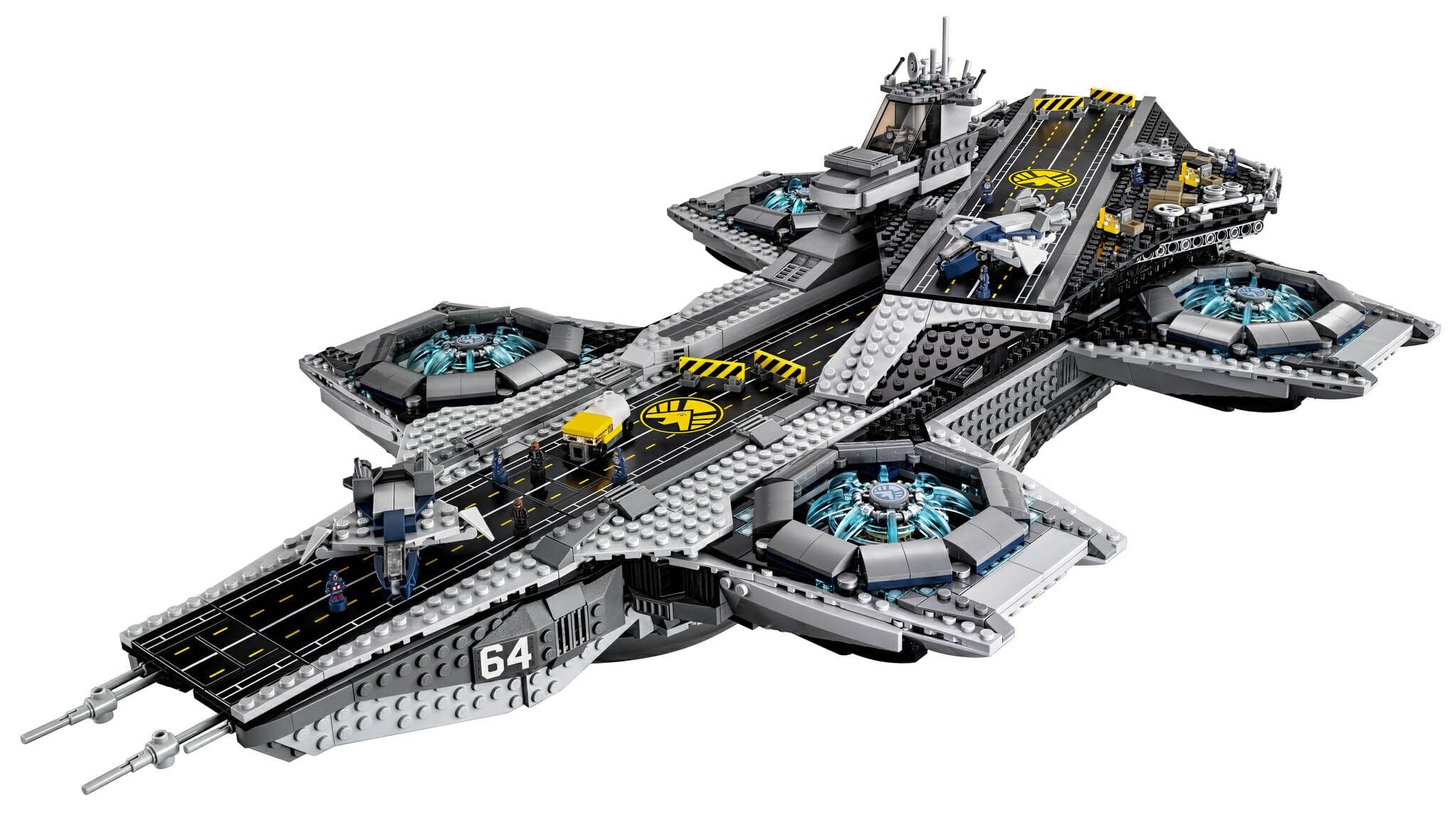 marvel lego sets : S.H.I.E.L.D. Helicarrier