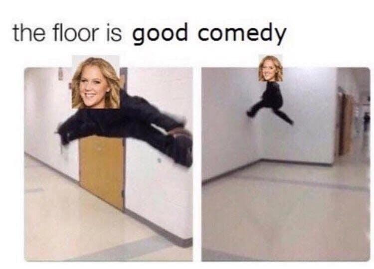 floor is lava meme : amy schumer floor is good comedy meme