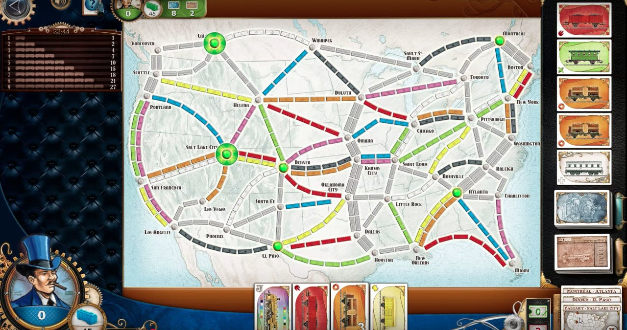 board games online : Ticket to Ride