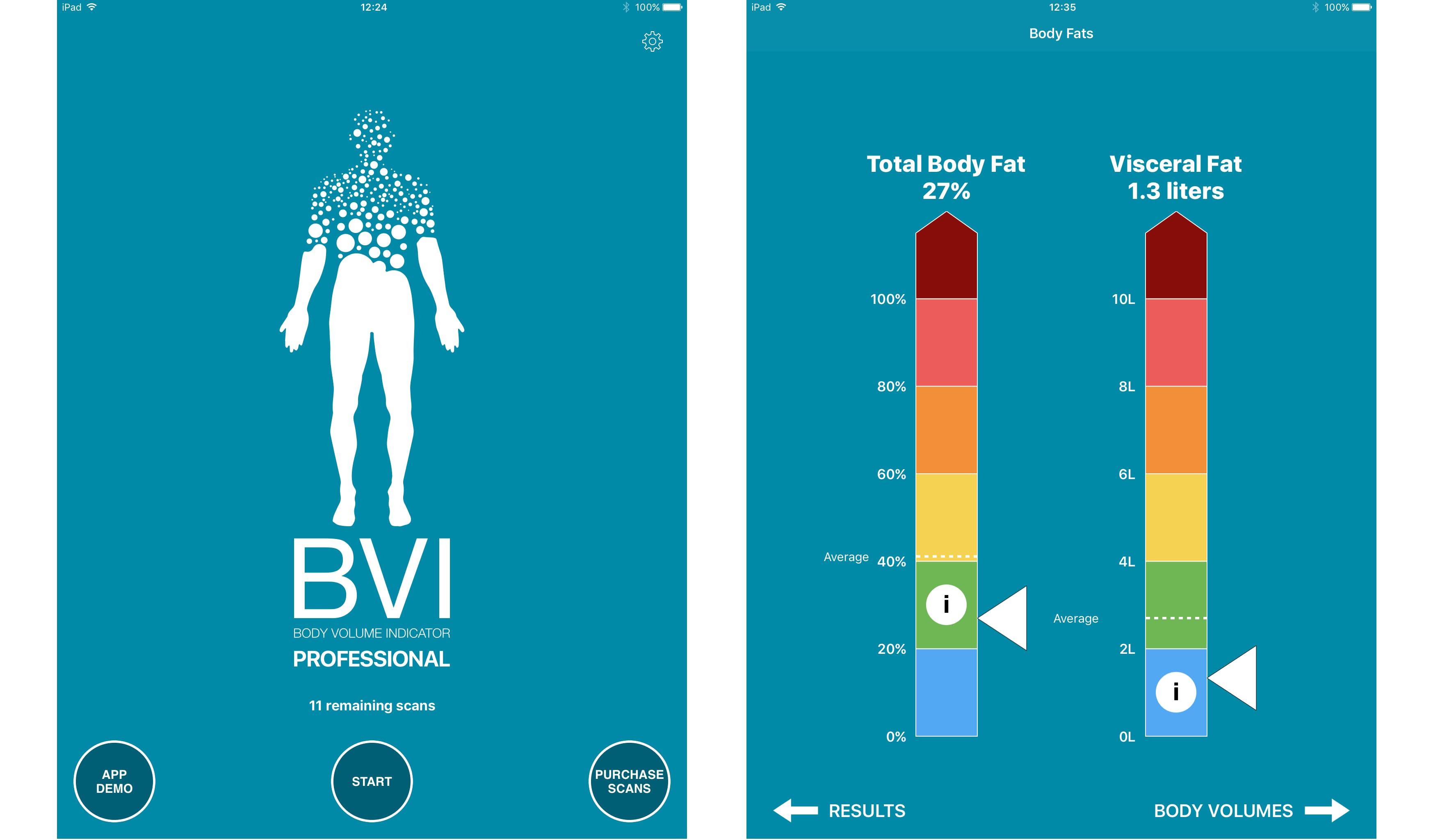 BVI Pro app screenshots