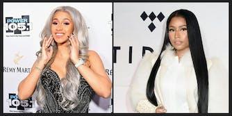 Cardi B and Nicki Minaj