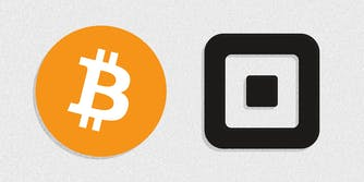 bitcoin and square logos