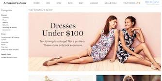 Amazon Fashion splash page