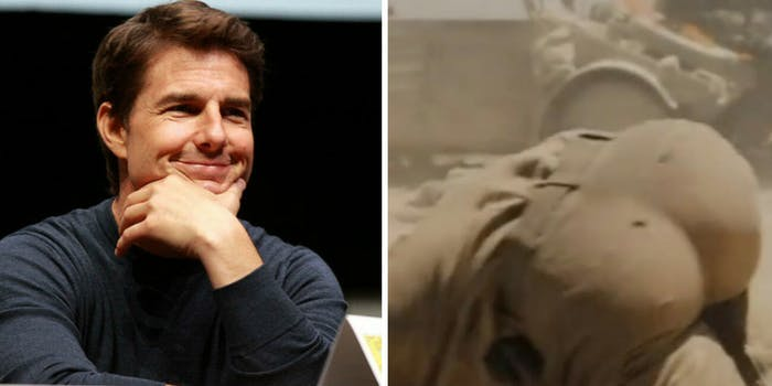 Tom Cruise fake butt controversy