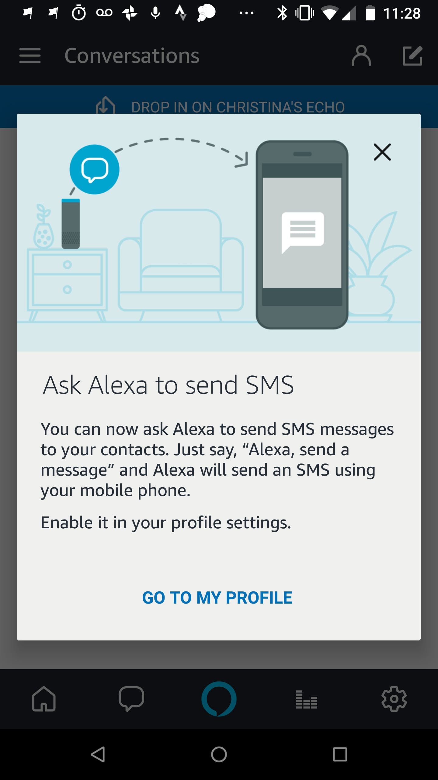 how to send a text with amazon alexa - echo send text message prompt