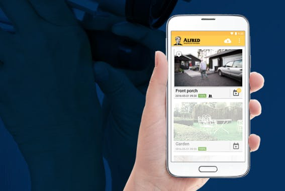 home security apps : Alfred camera app for Android