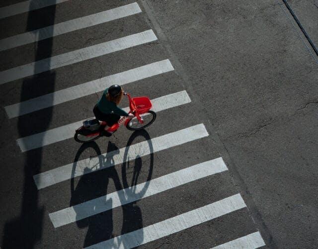 Jump Bikes overhead in crosswalk