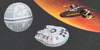 star wars vehicle plush