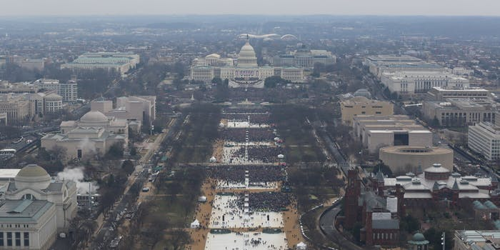 Trumps inauguration crowd