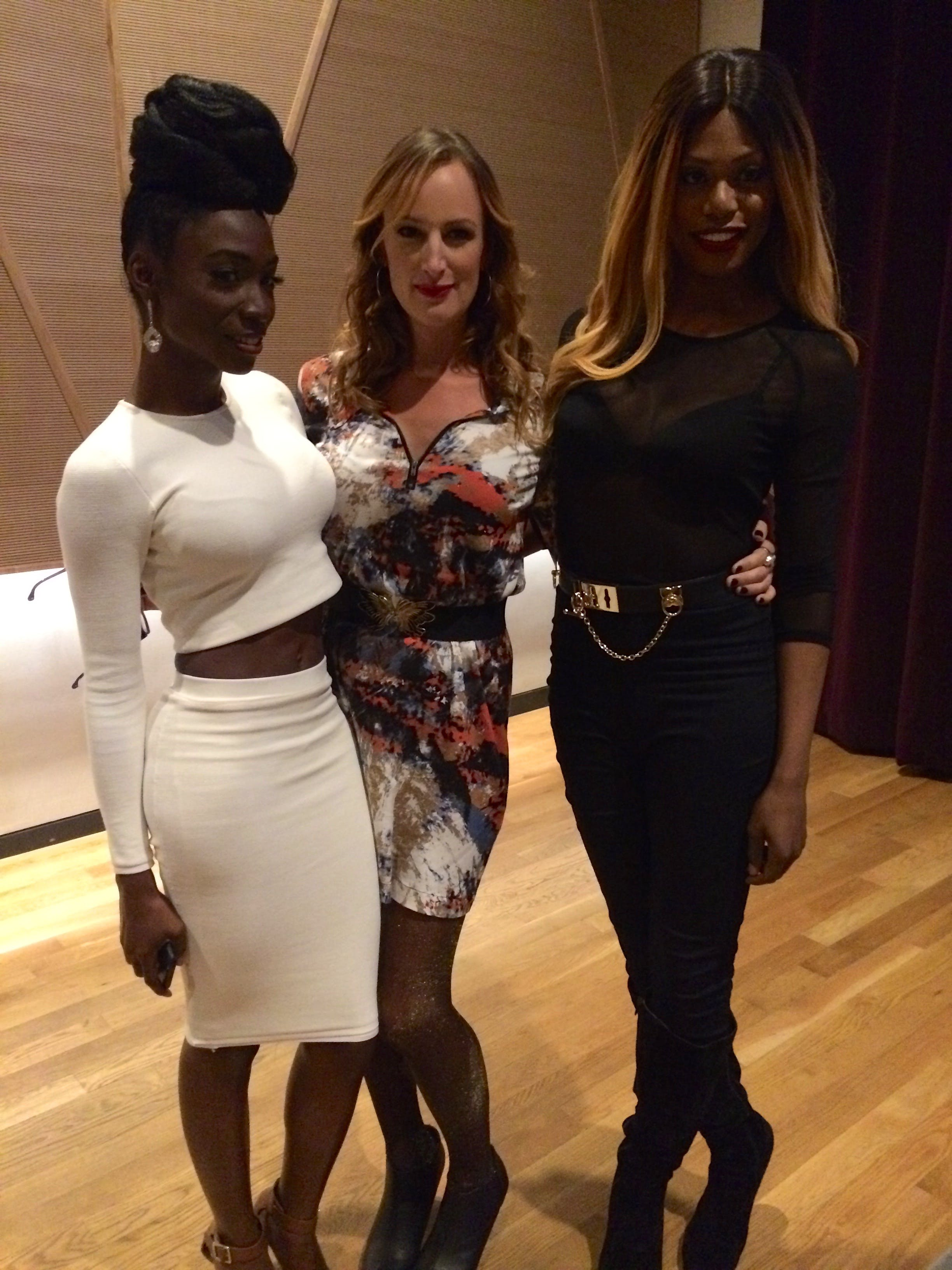 Angelica Ross, Jen Richards, and Laverne Cox