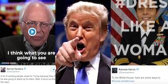 Donald Trump Bernie Sanders Kamala Harris Tweets