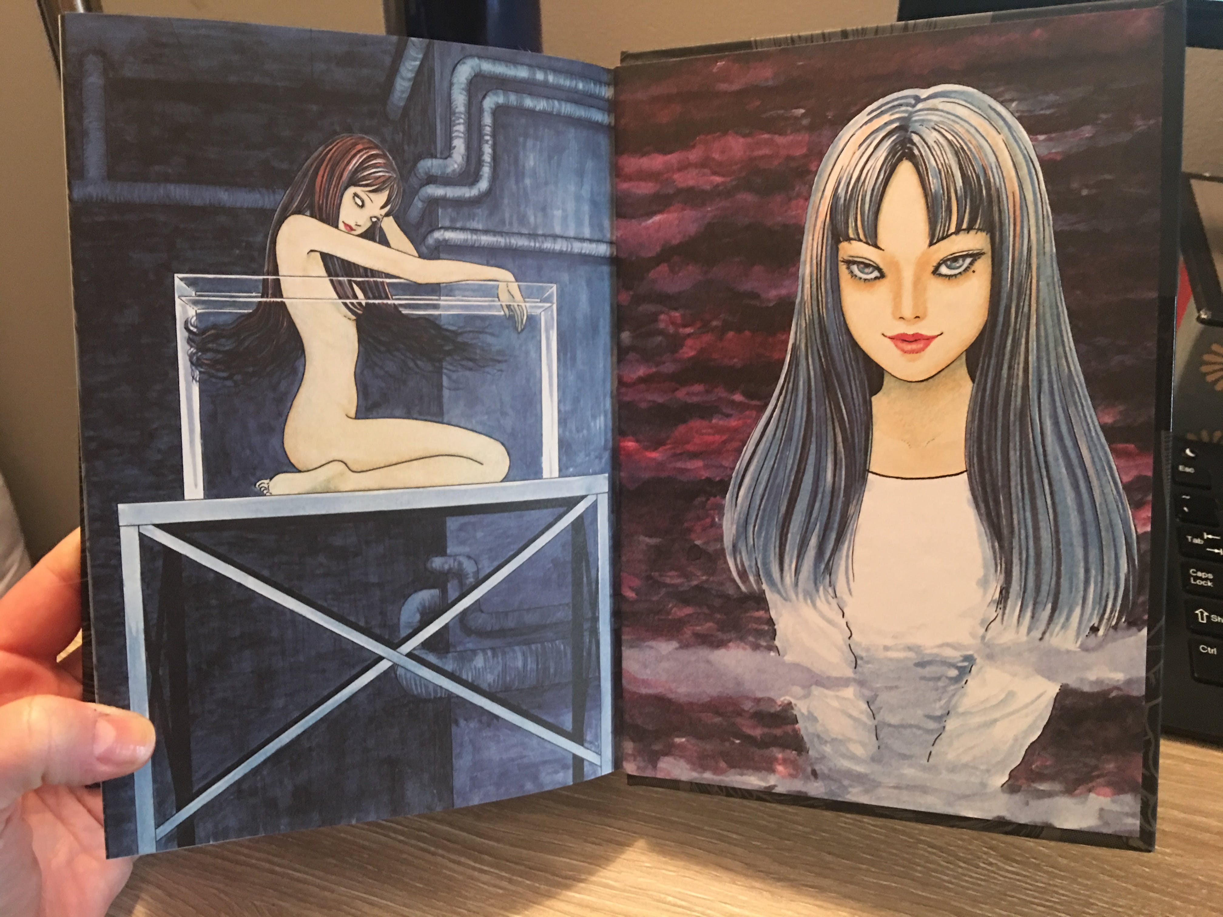 Ito's chilling art adorns the inner pages.