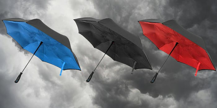 reverse-opening umbrella