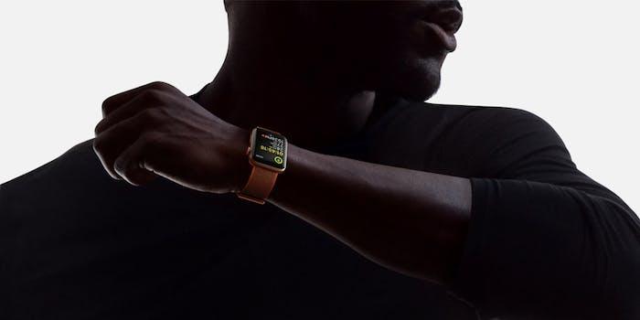 Apple Watch Series 3 on man's wrist