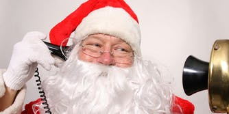 Santas phone number : Mr. Claus on old style telephone