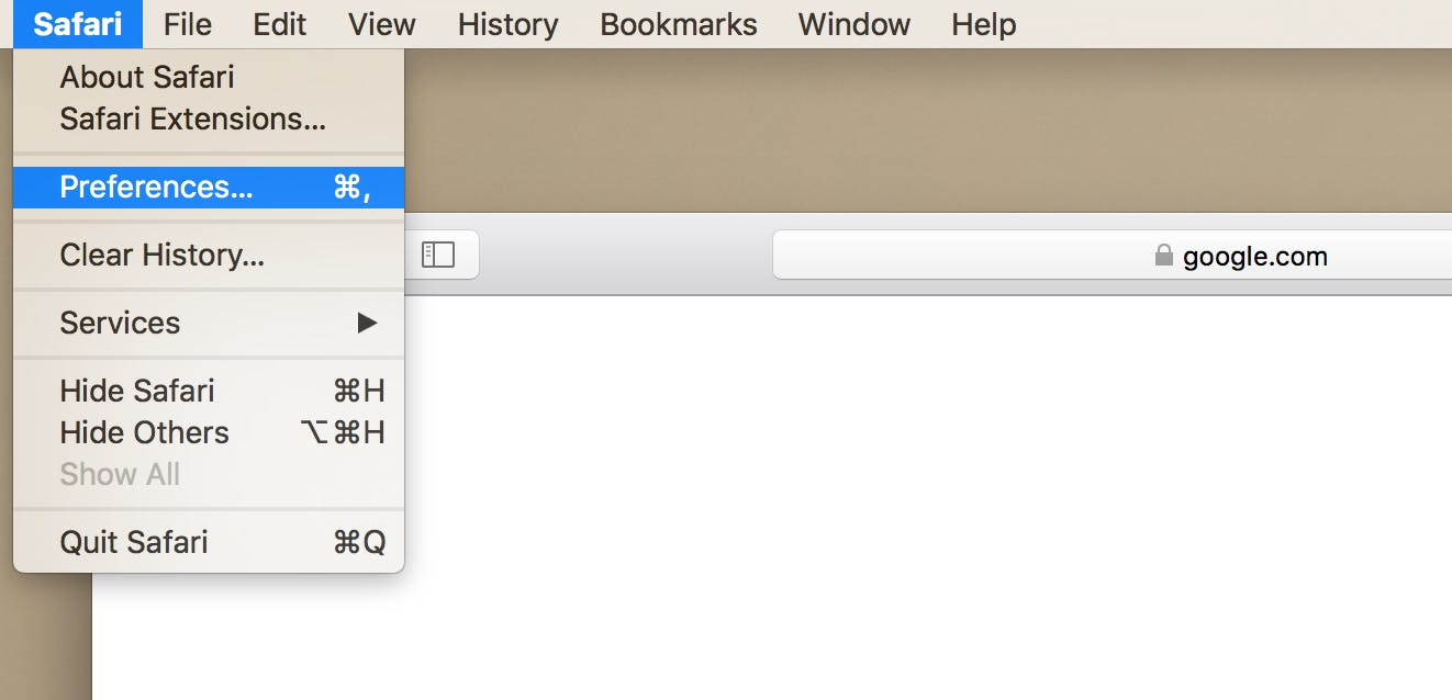 how to clear cookies in safari