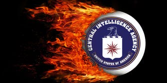 CIA Logo on Fire