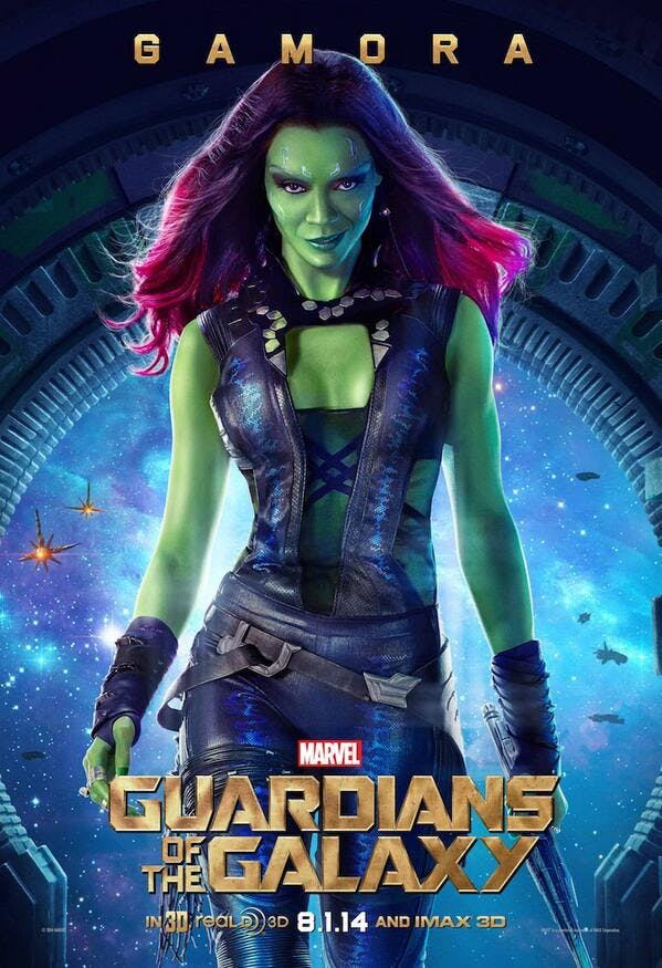 Guardians of the Galaxy, Gamora poster.
