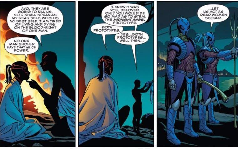 black female superheroes : Ayo and Aneka