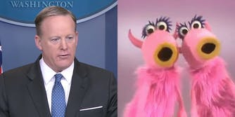 Sean Spicer and Manamanah Muppets