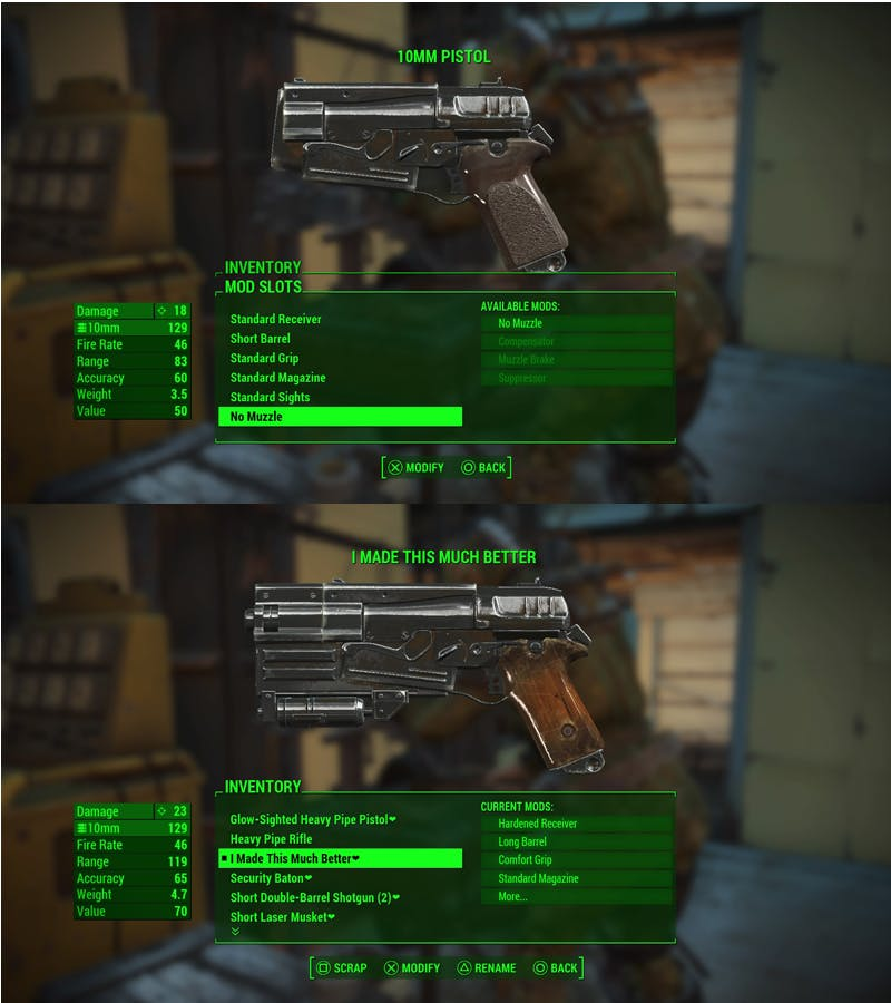 Renaming your customized weapons is a good time.