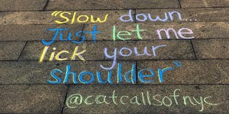 'Cat Calls of NYC' documents street harassment in sidewalk chalk