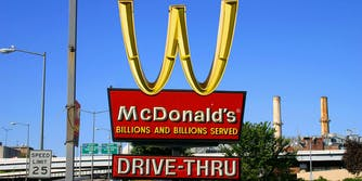 McDonald's golden arches logo inverted into a W