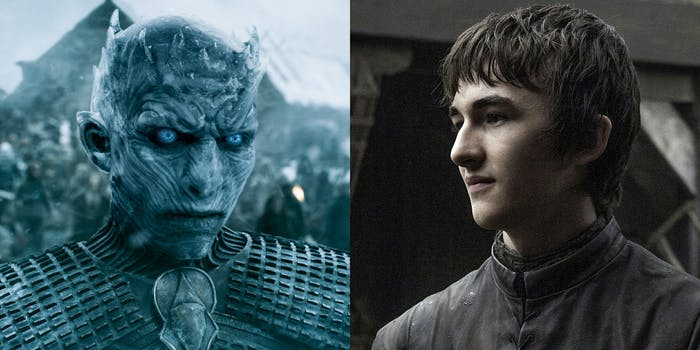 Night King and Bran Stark from Game of Thrones