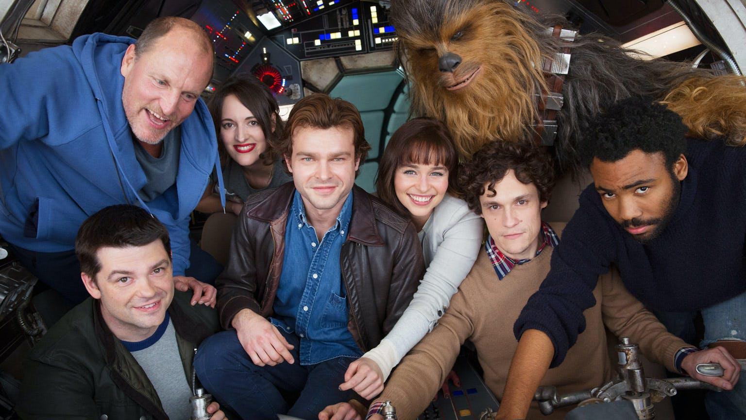 Han Solo movie cast photo