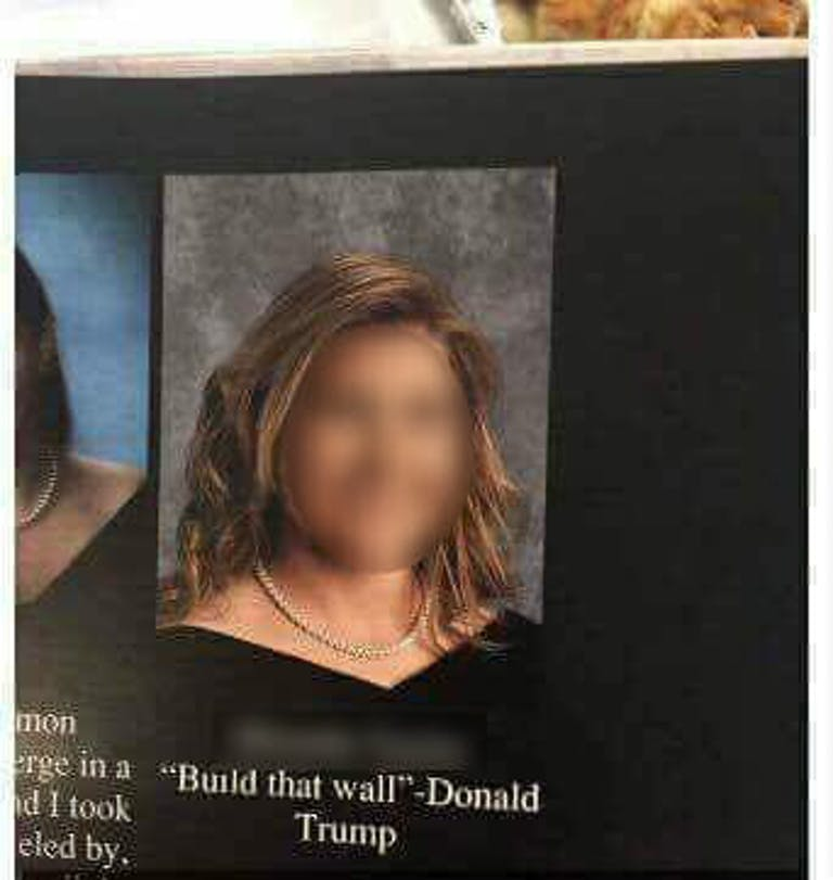 Build that Wall Yearbook Quote