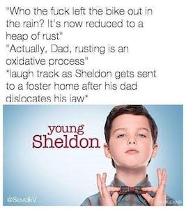 young sheldon rusting meme