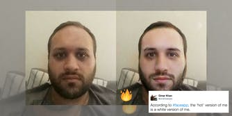 """FaceApp has been accused of whitening skin with their """"hot"""" filter."""