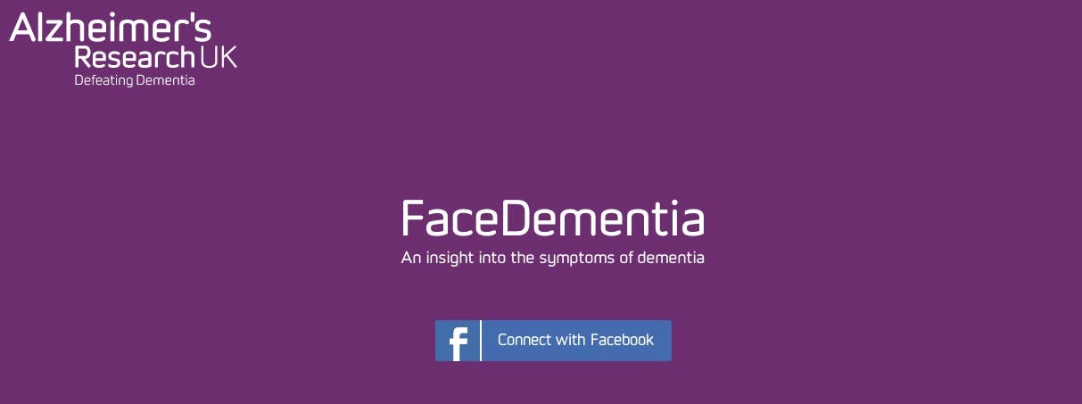 Facebook dementia app screenshot