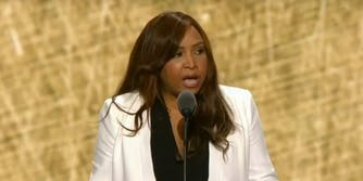 Lynne Patton of The Eric Trump Foundation speaks at the RNC in Cleveland.