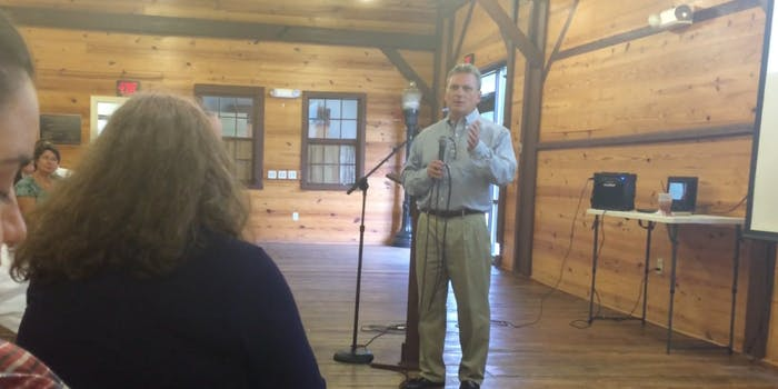 Republican Rep. Earl Carter at a town hall meeting