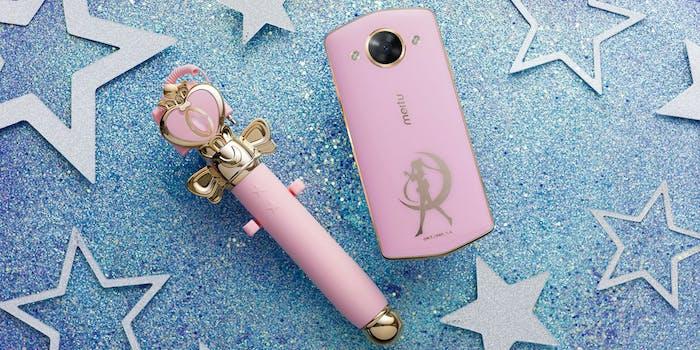 Sailor Moon and Meitu made a phone