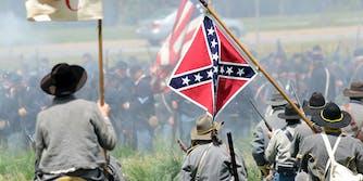 Confederate civil war re-enactors