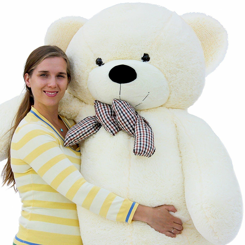 woman with stuffed bear