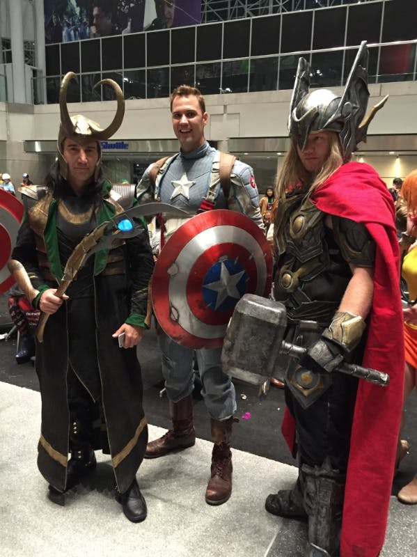 Loki and Captain America met Thor