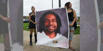 Two women protest Philando Castile's officer-involved shooting death