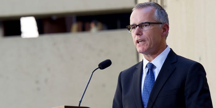 FBI Deputy Director Andrew McCabe, a frequent target of President Donald Trump's ire, is stepping down, according to numerous reports.